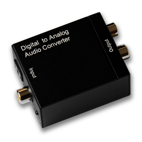 Digital Coax & Optical Toslink to R/L Stereo Audio Converter